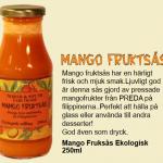 Mango fruktsås till glass eller dessert