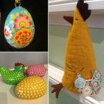 Påskpynt: påskägg och påskkyckling