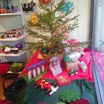 Julskyltning med gran
